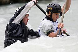 Michel Brajdot and Rok Markocic of Kajak klub Soske elektrarne compete in the Men's double Canoe C-2 at kayak & canoe slalom race on May 9, 2010 in Tacen, Ljubljana, Slovenia. (Photo by Vid Ponikvar / Sportida)