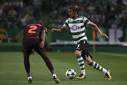 September 27, 2017 - Na - Lisbon, 09/27/2017 - Sporting Clube de Portugal received FC Barcelona tonight at the Alvalade stadium in the second qualifying round of Group D of the 2017/2018 Champions League. Nélson Semedo, Fabio Coentrao  (Credit Image: © Atlantico Press via ZUMA Wire)