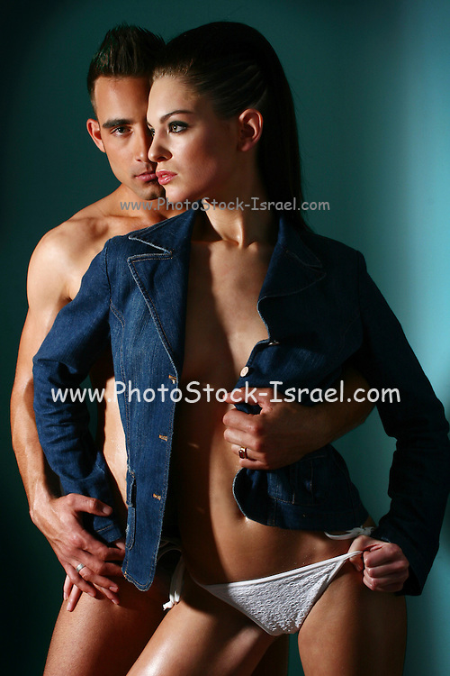 couple of sexy models int their 20s, studio