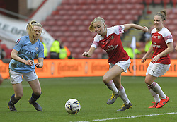 February 23, 2019 - Sheffield, England, United Kingdom - Leah Williamson (Arsenal) goes all out during the  FA Women's Continental League Cup Final  between Arsenal and Manchester City Women at the Bramall Lane Football Ground, Sheffield United FC Sheffield, Saturday 23rd February. (Credit Image: © Action Foto Sport/NurPhoto via ZUMA Press)