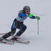 Winter Olympics, Vancouver, 2010.Therese Borssen, Sweden,  in action in the Alpine Skiing Ladies Slalom at Whistler Creekside, Whistler, during the Vancouver Winter Olympics. 24th February 2010. Photo Tim Clayton