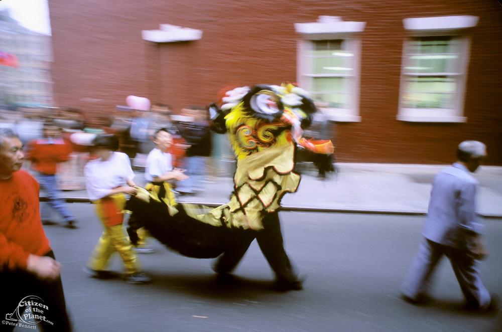 Chinatown, Lion Dance, Manhattan, New York