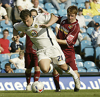 Photo: Aidan Ellis.<br /> Leeds United v Burnley. Coca Cola Championship. 14/04/2007.<br /> Leeds Robbie Blake (L) and Burnley's James O' Connor