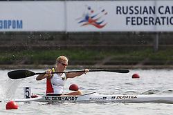 07.08.2014, Krylatskoe, Moskau, RUS, ICF, Kanu WM 2014, Moskau, im Bild Melanie Gebhardt (Leipzig) belegt Platz drei im Vorlauf 1.000m // during the ICF Canoe Sprint World Сhampionships 2014 at the Krylatskoe in Moskau, Russia on 2014/08/07. EXPA Pictures © 2014, PhotoCredit: EXPA/ Eibner-Pressefoto/ Freise<br /> <br /> *****ATTENTION - OUT of GER*****