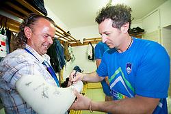Patrick Vlacic na dobrodelni nogometni tekmi SD Bilje, katere izkupicek  je namenjen Zavodu Lu ter Fundaciji Vrabcek upanja, on June 22, 2012 in Bilje pri Novi Gorici, Slovenia. (Photo by Vid Ponikvar / Sportida.com)