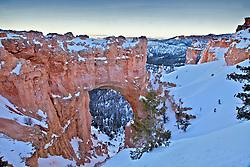 Winter, Natual Bridge Arch, Bryce Canyon National Park