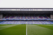 Ibrox shows its support for the armed forces with a massive tribute filling the Sandy Jardine Stand ahead of the Ladbrokes Scottish Premiership match between Rangers and Motherwell at Ibrox, Glasgow, Scotland on Sunday 11th November 2018.