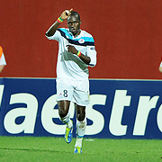 Lille's Moussa SOW celebrate his goal during their UEFA Champions League group stage matchday 2 soccer match Trabzonspor between Lille at the Avni Aker Stadium at Trabzon Turkey on Tuesday, 27 September 2011. Photo by TURKPIX