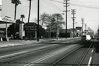 1972 Looking east on Santa Monica Blvd. from Gardner St.