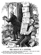 """The Chance of a Lifetime. Our Mr. Asquith. """"Five hundred coronets, dirt-cheap! This line of goods ought to make business a bit brisker, what?"""" Our Mr. Lloyd George. """"Not half; bound to go like hot cakes."""""""