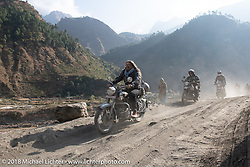 Beanre (Kevin Doebler) on Day-7 of our Himalayan Heroes adventure riding from Tatopani to Pokhara, Nepal. Monday, November 12, 2018. Photography ©2018 Michael Lichter.
