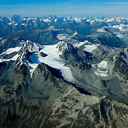 Chigmit Mountains in Lake Clark National Park, Alaska on the Ring of Fire around the Pacific Rim.