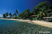 beach on Young Island, Saint Vincent,  St. Vincent & the Grenadines, West Indies ( Eastern Caribbean Sea )