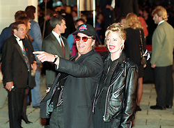PA NEWS PHOTO 17/5/93  DON JOHNSON ARRIVES WITH WIFE MELANIE GRIFFITH FOR THE LAUNCH OF PLANET HOLLYWOOD RESTAURANT IN LONDON'S WEST END