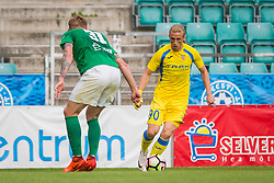 Zeni Husmani of NK Domzale during 2nd leg match of 1st Round Qualifications for European League between FC Flora and NK Domzale, on July 7, 2017 on Le Coq Arena, Tallinn, Estonia. Photo by Ziga Zupan / Sportida