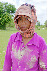 Woman Worker From Planting Rice