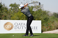 Rasmus Hojgaard (DEN) on the 2nd during the Pro-Am of the Commercial Bank Qatar Masters 2020 at the Education City Golf Club, Doha, Qatar . 04/03/2020<br /> Picture: Golffile | Thos Caffrey<br /> <br /> <br /> All photo usage must carry mandatory copyright credit (© Golffile | Thos Caffrey)