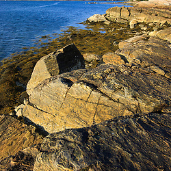 Rocky shoreline at the Nature Conservancy's Blagden Preserve at Indian Point on Maine's Mount Desert Island.
