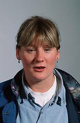 Portrait of woman talking,