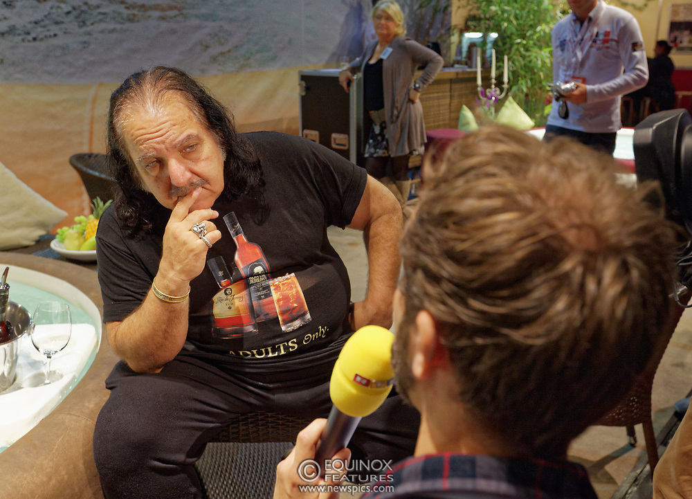 Berlin, Germany - 18 October 2012<br /> Porn star Ron Jeremy promoting his 'Ron Jeremy' brand of rum at the Venus Berlin 2012 adult industry exhibition in Berlin, Germany. Ron Jeremy, born Ronald Jeremy Hyatt, has been an American pornographic actor since 1979. He faces sexual assault allegations which he strenuously denies. There is no suggestion that any of the people in these pictures have made any such allegations.<br /> www.newspics.com/#!/contact<br /> (photo by: EQUINOXFEATURES.COM)<br /> Picture Data:<br /> Photographer: Equinox Features<br /> Copyright: ©2012 Equinox Licensing Ltd. +448700 780000<br /> Contact: Equinox Features<br /> Date Taken: 20121018<br /> Time Taken: 12173333