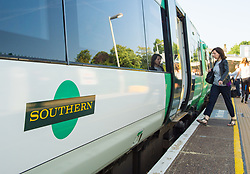File photo dated 11/06/15 of a Southern rail train. House price growth has slowed to around a third of its previous levels in areas where commuters have been affected by the Southern railway strikes, according to a property website.