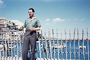 British Sports car racing driver Bill de Selincourt, R William de Selincourt, 1921-2014 portrait 1961