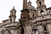 Fontana dei Fiumi. Images of Rome, Italy during the Christmas Holidays.