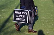 BILTHOVEN -  Hoofdklasse competitiewedstrijd dames, SCHC v hdm, seizoen 2020-2021.<br /> Foto: Verzorger Paramedisch Centrum Bilthoven