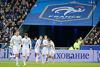 Aleksandr Kokorin (Zenith Saint-Petersbourg) (RUS) scored a goal, Alan Dzagoev (CSKA Moscou) (RUS), Aleksei Berezutski (CSKA Moscow) (RUS) during the International Friendly Game 2016 football (soccer) match between France and Russia on March 29, 2016 at Stade de France in Saint Denis, France - Photo Stephane Allaman / DPPI