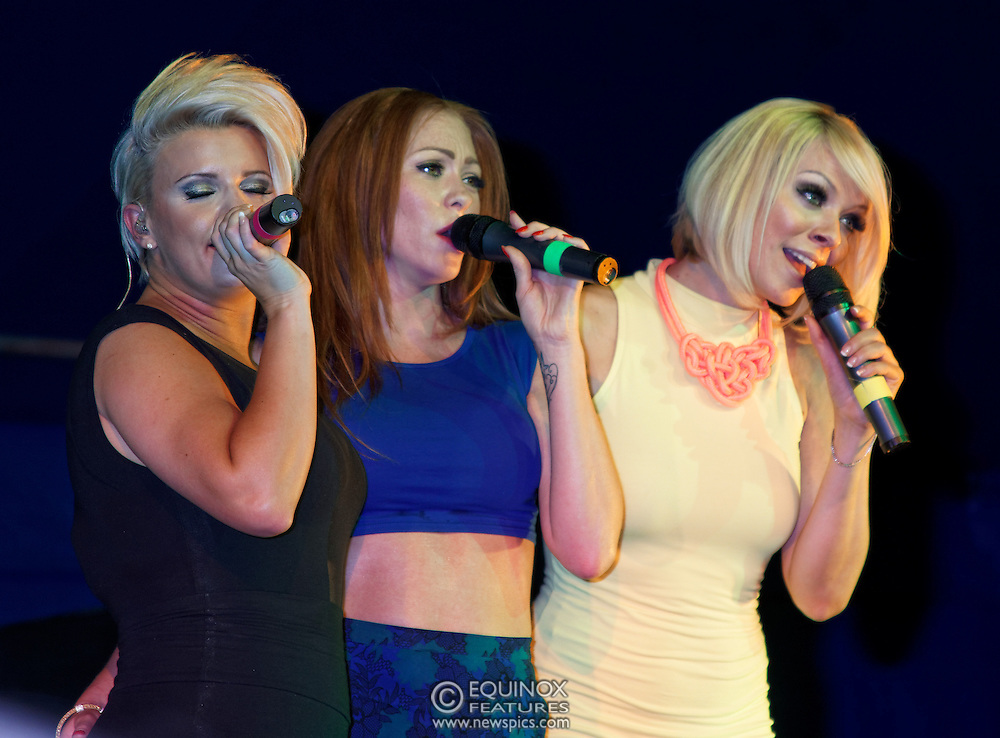 London, United Kingdom - 29 June 2013<br /> As part of the gay Pride 2013 celebrations Girl band Atomic Kitten performing at Summer Rites / Pride Party In The Park, Shoreditch Park, Hoxton, London, England, UK.<br /> Contact: Equinox News Pictures Ltd. +448700780000 - Copyright: ©2013 Equinox Licensing Ltd. - www.newspics.com<br /> Date Taken: 20130629 - Time Taken: 201357