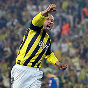Fenerbahce's Alexsandro de SOUZA celebrate his goal during their Turkish superleague soccer match Fenerbahce between Ankaragucu at the Sukru Saracaoglu stadium in Istanbul Turkey on Sunday 15 May 2011. Photo by TURKPIX