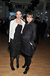 Left to right, TIPHAINE DE LUSSY and DAISY BATES at the Swarovski Whitechapel Gallery Art Plus Fashion fundraising gala in support of the gallery's education fund held at The Whitechapel Gallery, 77-82 Whitechapel High Street, London E1 on 14th March 2013