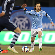Ned Grabavoy, NYCFC, in action during the New York City FC Vs Sporting Kansas City, MSL regular season football match at Yankee Stadium, The Bronx, New York,  USA. 27th March 2015. Photo Tim Clayton