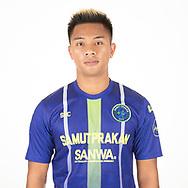 THAILAND - APRIL 09: Jakkapan Praisuwan #7 of Samut Prakan City FC on April 09, 2019.<br /> .<br /> .<br /> .<br /> (Photo by: Naratip Golf Srisupab/SEALs Sports Images/MB Media Solutions)