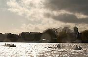 [Mandatory Credit Peter Spurrier/ Intersport Images] 2006, Varsity Boat Race,  Varsity, Boat race. Rowing Course: River Thames, Championship course, Putney to Mortlake 4.25 Miles