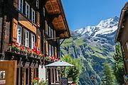 Gimmelwald, Lauterbrunnen Valley, in Bern canton, Switzerland, Europe.
