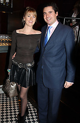 LADY EMILY COMPTON and EDWARD TAYLOR at a fund raising dinner hosted by Marco Pierre White and Frankie Dettori's in aid of Conservative Party's General Election Campaign Fund held at Frankie's No.3 Yeoman's Row,æLondon SW3 on 17th January 2005.<br />