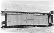 Box car #3436 in Durango yard.<br /> D&RGW  Durango, CO  Taken by Maxwell, John W. - ca 1957