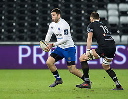 Bath Rugby's Matt Banahan<br /> <br /> Photographer Simon King/Replay Images<br /> <br /> Anglo-Welsh Cup Round 4 - Ospreys v Bath Rugby - Friday 2nd February 2018 - Liberty Stadium - Swansea<br /> <br /> World Copyright © Replay Images . All rights reserved. info@replayimages.co.uk - http://replayimages.co.uk