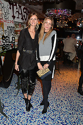 Left to right, JACQUETTA WHEELER and LUCY DAY at a party to celebrate the first anniversary of SushiSamba at the Heron Tower, 110 Bishopsgate, London EC4 on 12th November 2013.