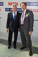 Atletico de Madrid´s Enrique Cerezo attends MARCA Football Awards ceremony in Madrid, Spain. November 10, 2014. (ALTERPHOTOS/Victor Blanco)