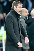 Football - 2018 / 2019 Emirates FA Cup - Quarter-Final: Swansea City vs. Manchester City<br /> <br /> Swansea manager Graham Potter after Man City take the lead, at The Liberty Stadium.<br /> <br /> COLORSPORT/WINSTON BYNORTH