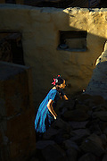 Young girl inside Jaisalmer Fort, Jaisalmer, Rajasthan, India