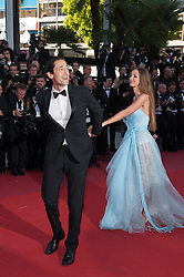 Lara Lieto and Adrien Brody arriving on the red carpet of Les Fantomes d Ismael screening and opening ceremony held at the Palais Des Festivals in Cannes, France on May 17, 2017 as part of the 70th Cannes Film Festival. Photo by Nicolas Genin/ABACAPRESS.COM