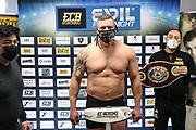 BOXEN: ECB Boxgala, Waage, Hamburg, 12.03.2021<br /> WBO-Europameisterschaft, Schwergewicht: Jacek Piatek (POL)<br /> © Torsten Helmke