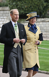 The Earl of Wessex and The Princess Royal arrive ahead of the wedding of Lady Gabriella Windsor and Thomas Kingston at St George's Chapel in Windsor Castle.