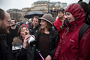 London, UK. Saturday 13th April 2013. Revellers drink in celebration as they gather for the Margaret Thatcher Death Party in Trafalgar Square, to celebrate the late Prime Minister's passing away.