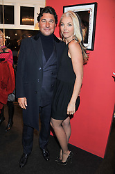 GIORGIO VERONI and TAMARA BECKWITH at a Private View of Bruno Bisang 30 Years of Polaroids held at The Little Black Gallery, 13A Park Walk, London SW10 on 15th January 2013.
