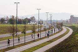 21km and 42km Run at Volkswagen 22nd Ljubljana Marathon 2017, on October 29, 2017 in Ljubljana, Slovenia. Photo by Vid Ponikvar / Sportida