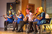The Tulla Road Ceili Band performing at the Fleadh 2016 Fáiltiú at Cois na hAbhanna, Ennis. Photograph by Eamnon Ward